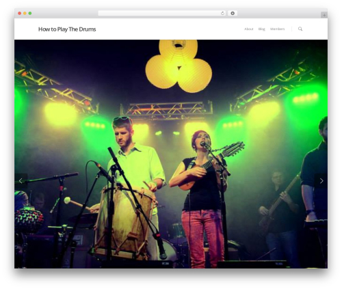 WordPress theme Salient - howtoplaythedrums.org