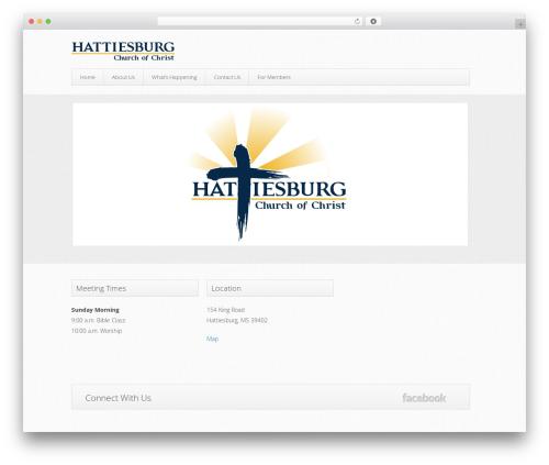 WordPress website template Trinity (Free Edition) - hattiesburgchurchofchrist.org