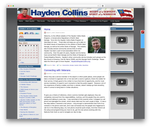 WP theme Eximius - haydencollins.org/support