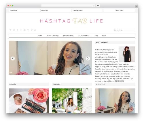 Fun WordPress Theme WordPress blog template - hashtagfablife.com