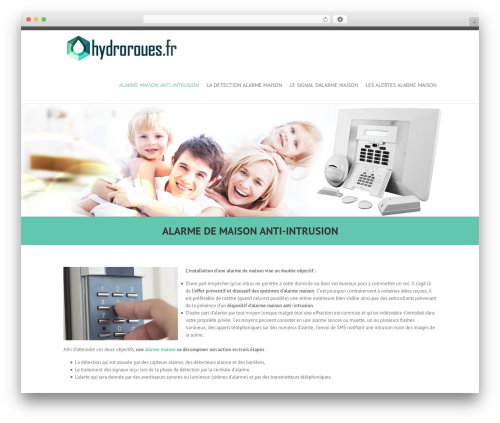 Interface theme WordPress free - hydroroues.fr