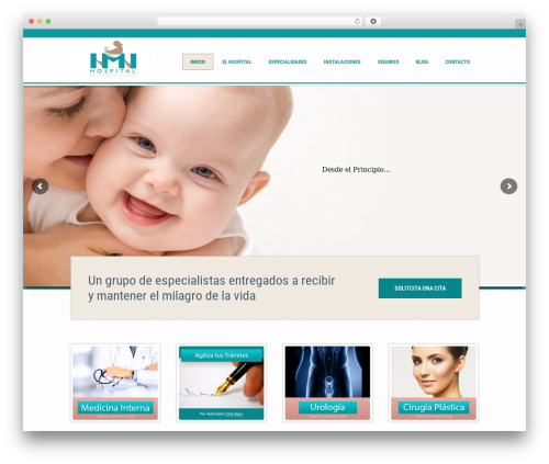 Medicate theme WordPress - hmn.com.mx