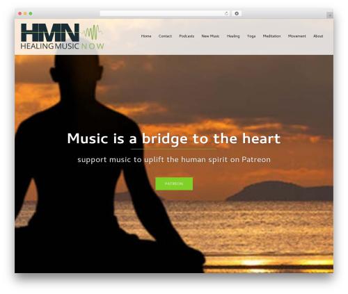 Sydney theme WordPress free - healingmusicnow.com
