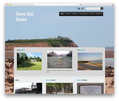 Travel Lite free WP theme - howebayhaven.com