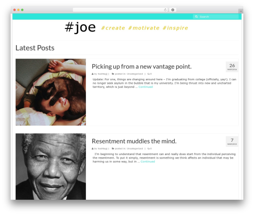 Virtue free WordPress theme - hashtagjoe.com