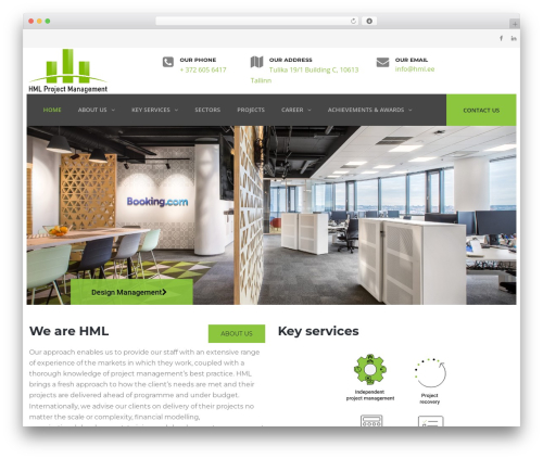 WordPress website template TheBuilt - hml.ee
