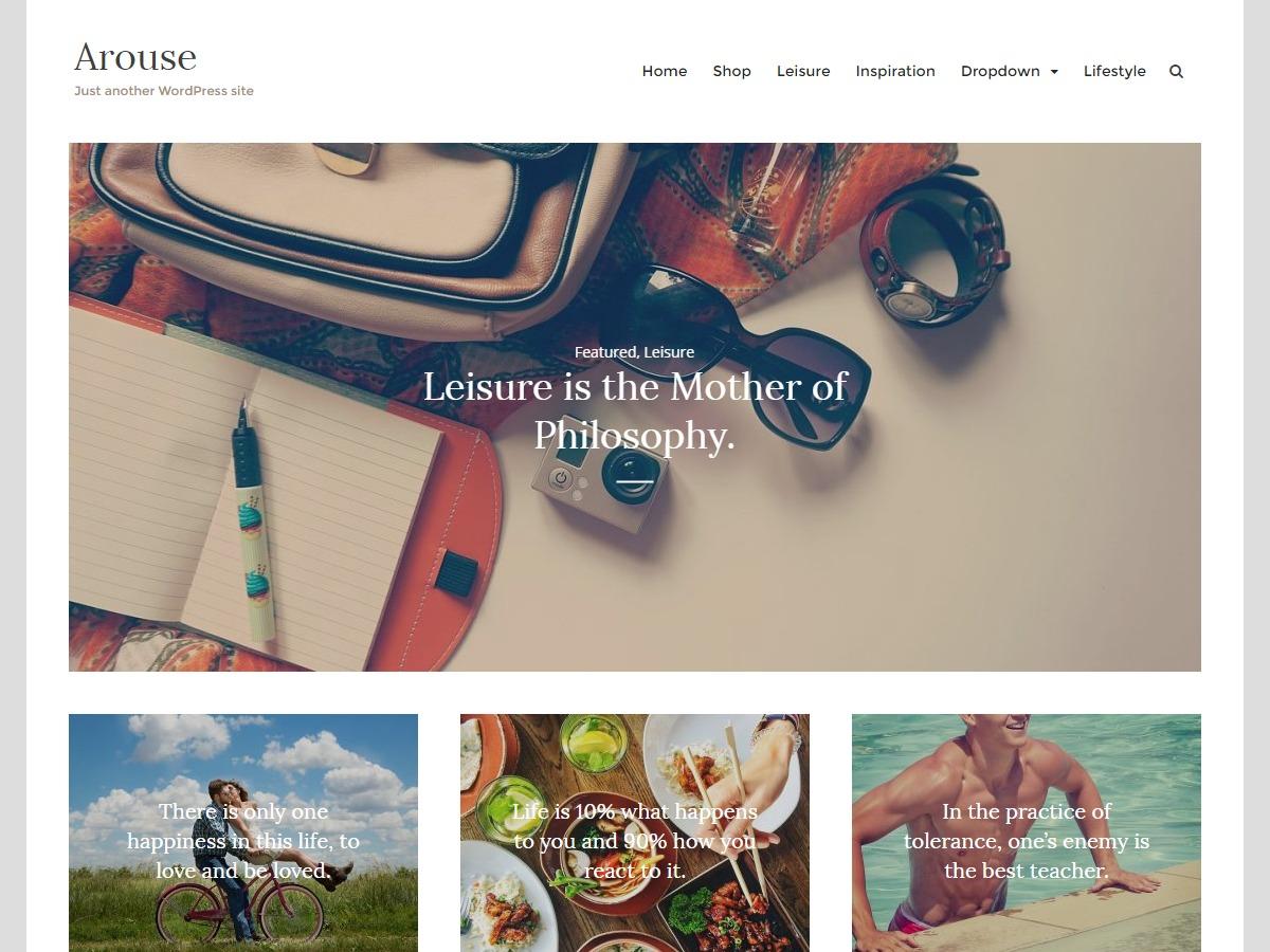 Arouse WordPress travel theme