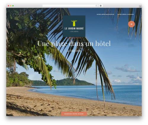 Best WordPress template Grandium - hotel-jardin-maore.com