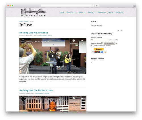 Best WordPress theme Peacemaker - healingvoice.tv/videos/infuse-3