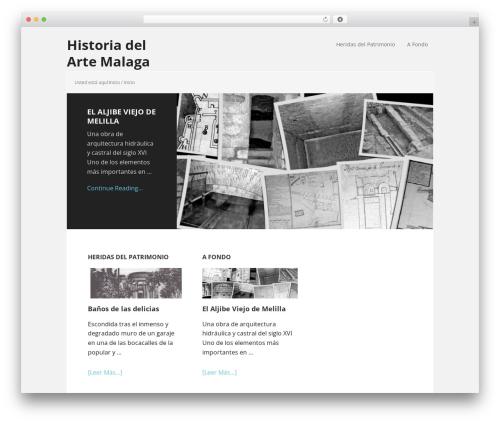 Executive Pro Theme WordPress page template - historiadelartemalaga.es