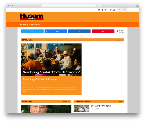 FlatNews newspaper WordPress theme - husammusa.com