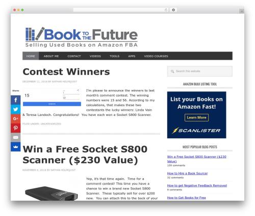 Genesis WordPress theme - booktothefuture.com