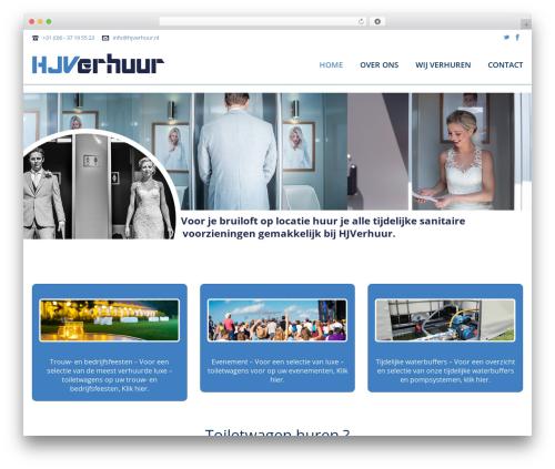Jupiter theme WordPress - hjverhuur.nl