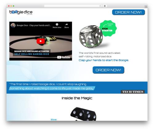 Rhythm Wordpress Theme WordPress page template - boogiedice.com