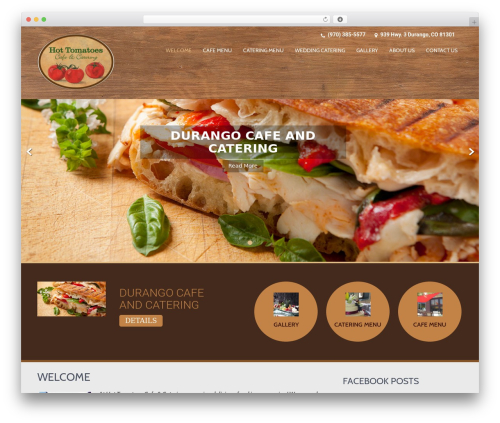SKT Coffee best free WordPress theme - hottomatoescafe.com