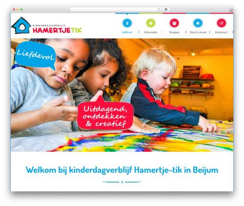 Theme WordPress Kids World - hamertje-tik.nl