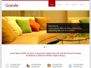 WordPress website template Grande Red