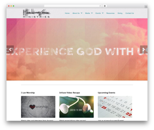 WordPress website template Peacemaker - healingvoice.tv