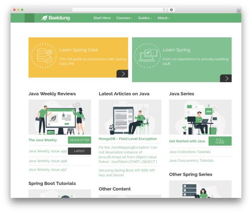 Baeldung theme WordPress by Benny Aarup