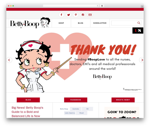 BB WordPress blog theme - bettyboop.com