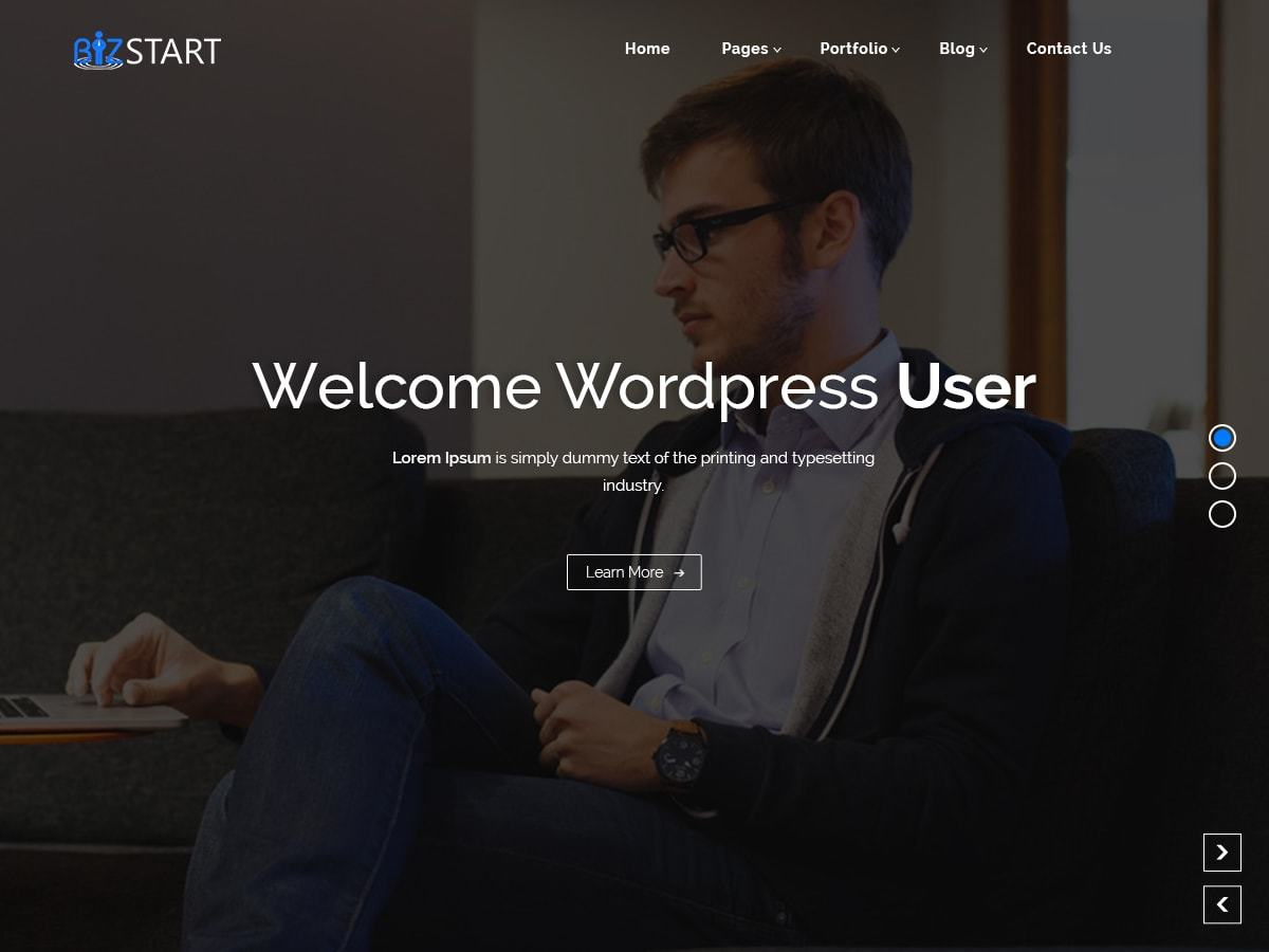 BizStart business WordPress theme