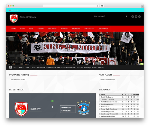 GoalKlub best WordPress theme - humecityfc.com