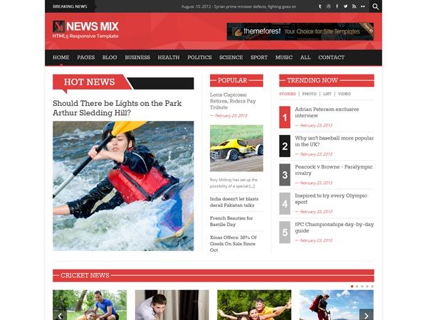 News Mix_ORiginal newspaper WordPress theme