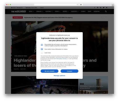 Newspaper WordPress news template - highlandernews.org