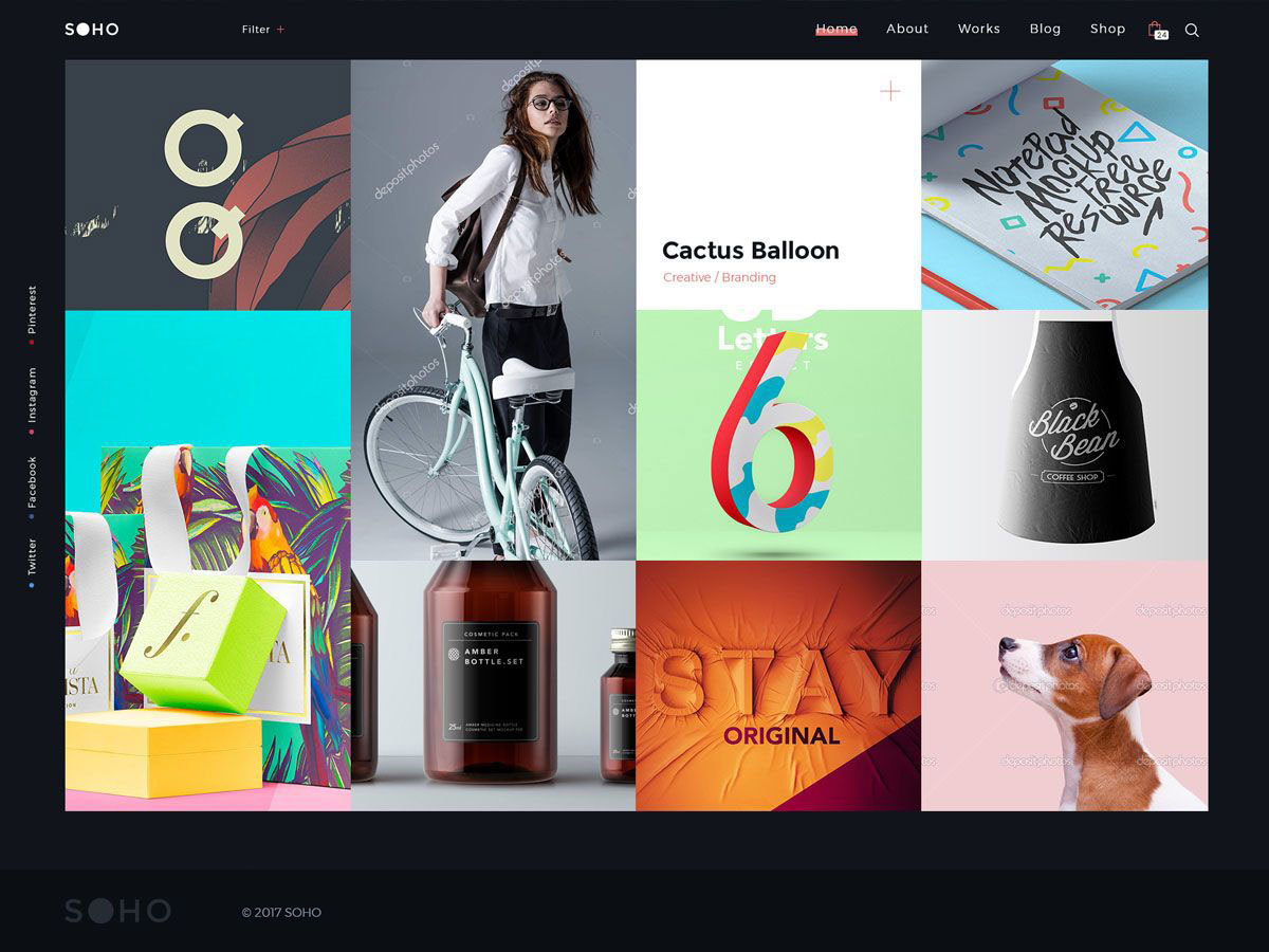 SohoPRO | Shared By Themes24x7.com WordPress page template
