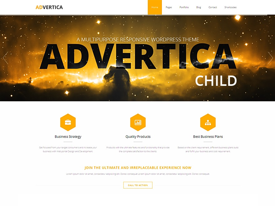 Advertica Child theme WordPress theme