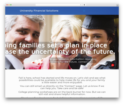 Betheme theme WordPress - universityfinancialsolutions.com