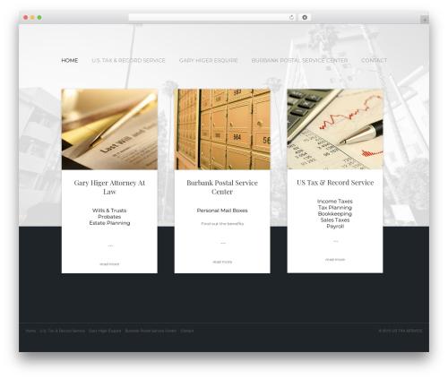 Bizly company WordPress theme - ustaxservice.com