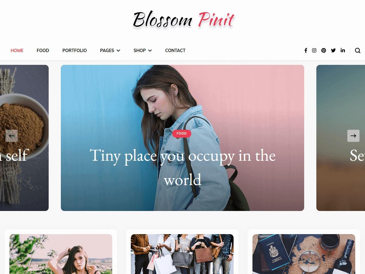 Blossom PinIt WordPress blog theme