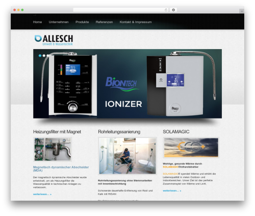 Boldy WordPress theme design - umwelt-wassertechnik.at
