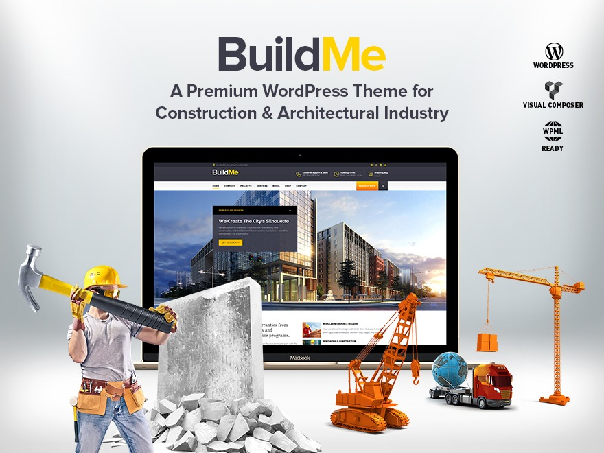 BuildMe (shared on wplocker.com) WordPress template for business