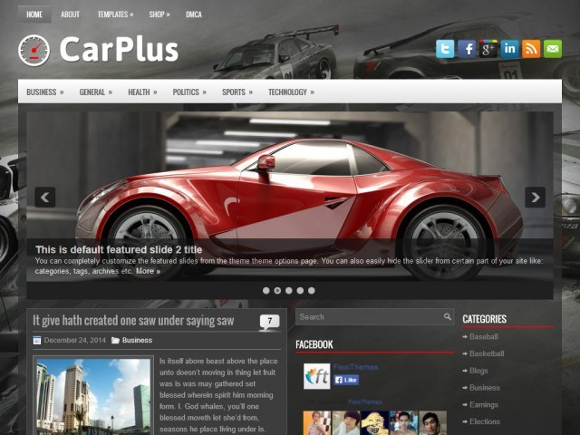 CarPlus WordPress theme