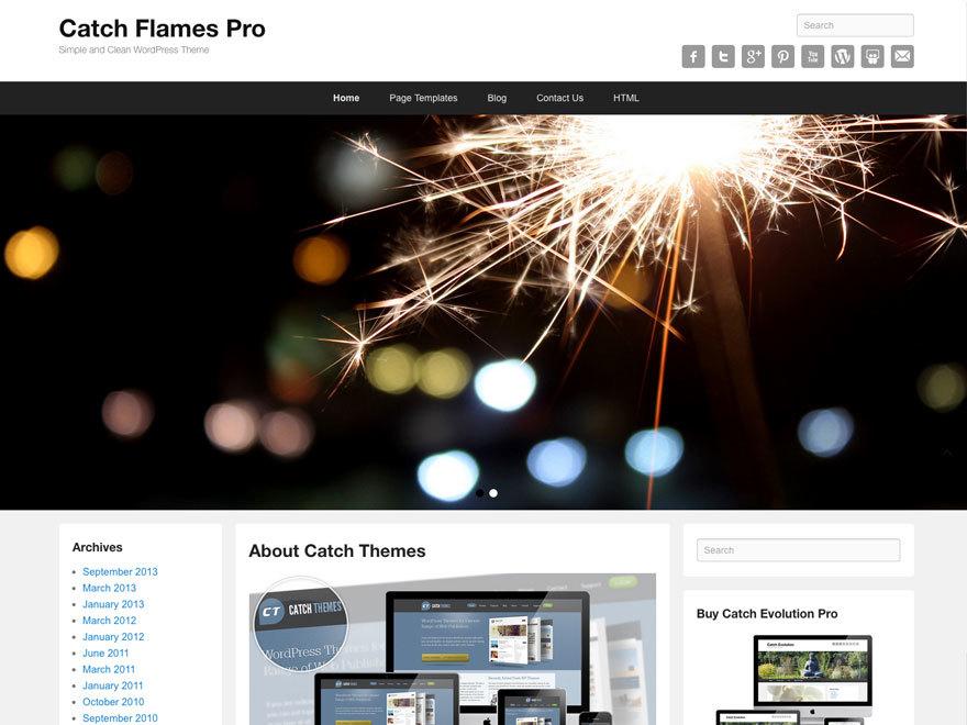 Catch Flames Pro WordPress shop theme