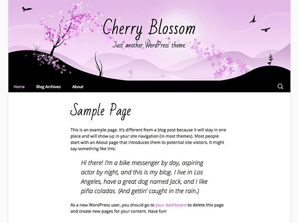 Cherry Blossom WP template