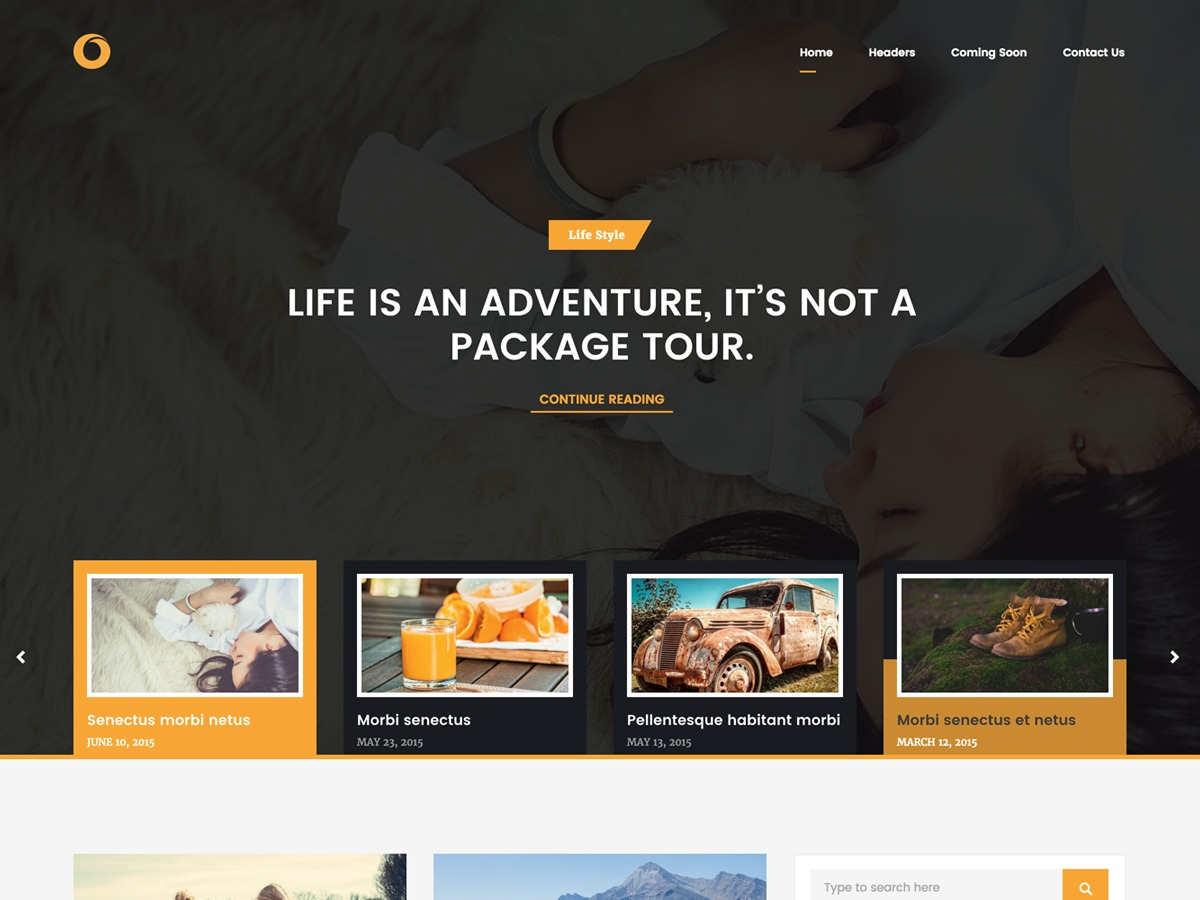 Dot Blog free WP theme