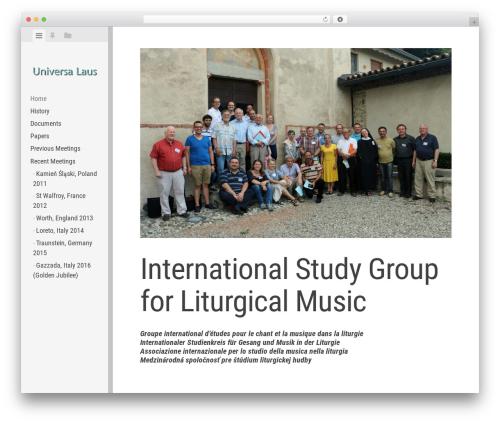 Editor free WP theme - universalaus.org