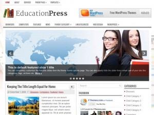 EducationPress WordPress blog template