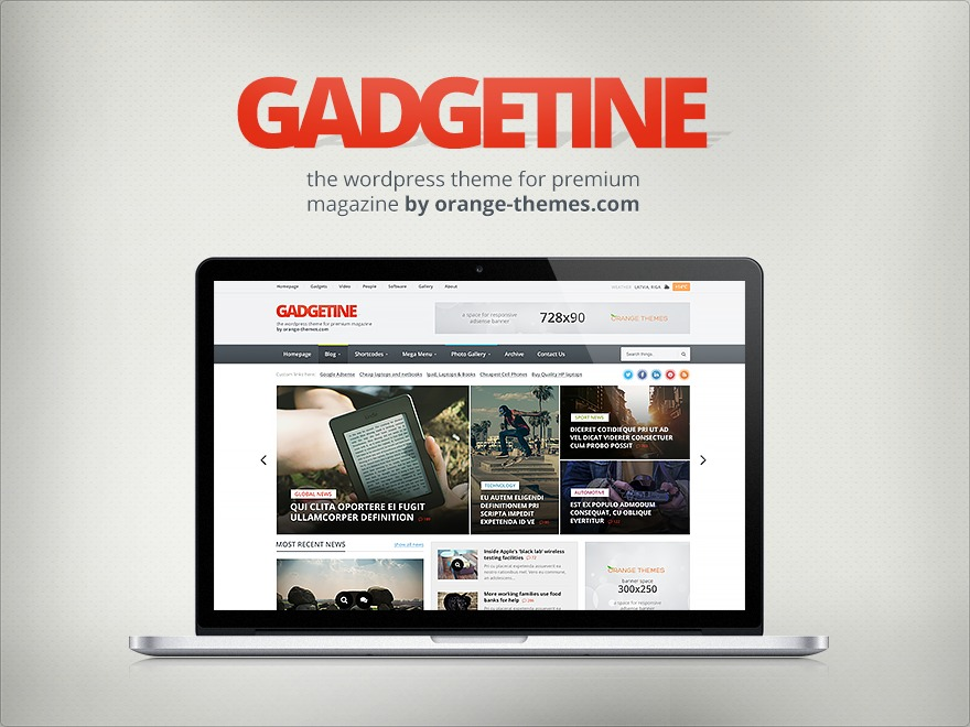 Gadgetine Premium Theme WordPress template