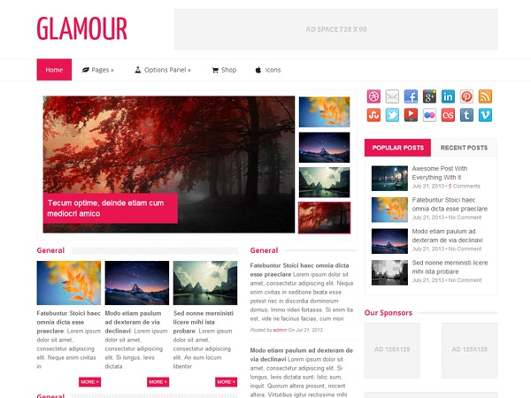 Glamour by MyThemeShop WordPress shop theme