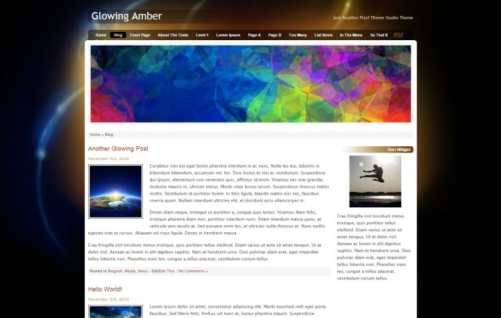 Glowing Amber WordPress template for business