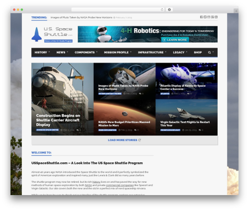 Goliath WP template - usspaceshuttle.com