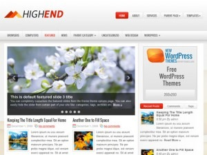 HighEnd WordPress blog template
