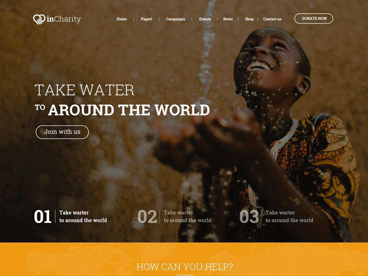 inCharity theme WordPress