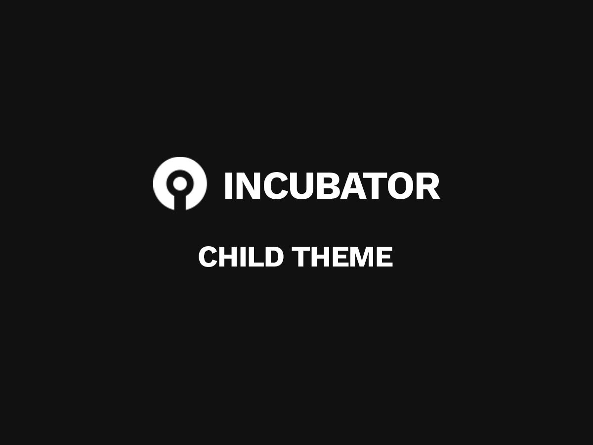 Incubator Child WordPress ecommerce theme