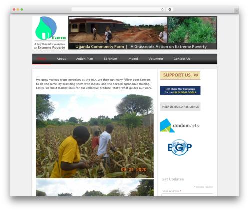 Isquar WordPress theme - ugandafarm.org