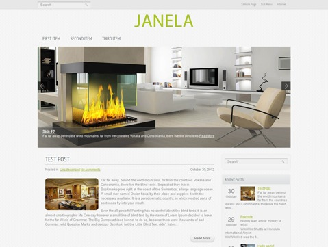Janela WordPress template